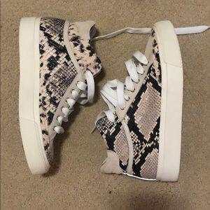 Snake Print High Top Tennis shoes sneakers